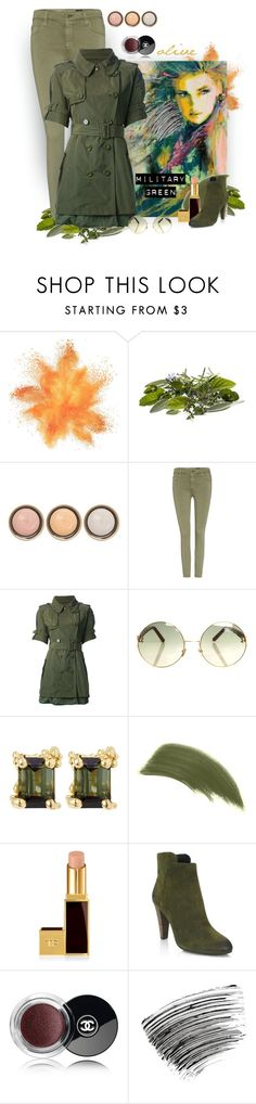 """""""Military Influenced"""" by patricia-dimmick on Polyvore featuring By Terry, AG Adriano Goldschmied, Moncler, Linda Farrow, Ruth Tomlinson, Tom Ford, Elie Tahari, Chanel, Bobbi Brown Cosmetics and Gogreen"""