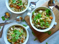 Roast Chicken and Vegetable Soup