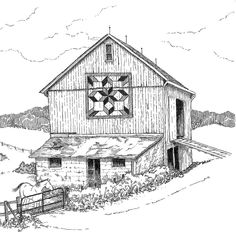 The following illustrations were commissioned by the Mystery Harvest Shop Hop quilt group in southeast Ohio, WV, and KY. They were print...