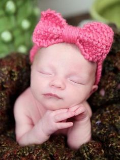 Free Pattern of Baby Bow Head Band.