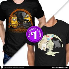 """Get """"Despicable Twins"""" from artist DJKopet and """"Nar Wars"""" from artist RebelArt today only, April 22, for $10 at RIPT Apparel. www.riptapparel.com"""