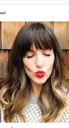 Ombre Hair Color For Brunettes, Brunette Hair Color With Highlights, Hair Color Balayage, Brown Hair Colors, Lob Hairstyle, Pretty Hairstyles, Medium Hair Styles, Long Hair Styles, Long Hair With Bangs
