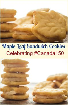 Maple Leaf Sandwich Cookies, a delicious delicate maple crunchy cookie with a creamy smooth maple filling. Yummy Treats, Delicious Desserts, Yummy Food, Sweet Treats, Cookie Recipes, Dessert Recipes, Baking Recipes, Frosting Recipes, Maple Leaf Cookies