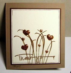 F4A39 Hearty thanks by Biggan - Cards and Paper Crafts at Splitcoaststampers