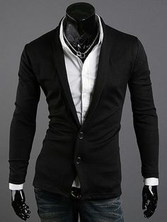 2013 Spring Deep v Neck Sweater Thin Casual Cardigan Men's Clothing Slim Knitted Sweater Jacket Looks Style, My Style, Style Casual, Suit And Tie, Well Dressed Men, Gentleman Style, Men Looks, Swagg, Sexy Men