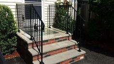 residential railing Handicap Ramps, Balcony Railing, Fence Gate, Stairs, Iron, Windows, Craft, Home Decor, Stairway