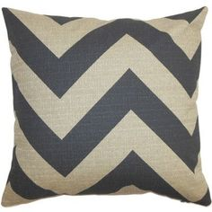 The Pillow Collection Eir Zigzag Bedding Sham Size: King, Color: Gray/Natural
