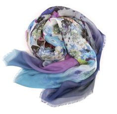 Gauze silk large square lavender
