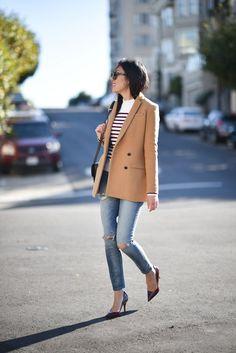 Stripes & a Blazer