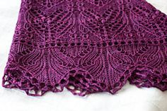 Maritta's version of patter 'Damask' by Kitman Figueroa which can be purchased as a download on Ravelry $5.00USD ..... pattern knit in malabrigo yarn sock ~ 4ply fingering yarn