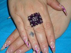 anello in swarovski di colore viola!!!!