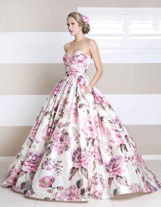 Floral wedding dress: Katelyn by Wendy Makin