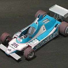 F1 Paper Model - Ligier JS25 Paper Car Free Vehicle Paper Model Download