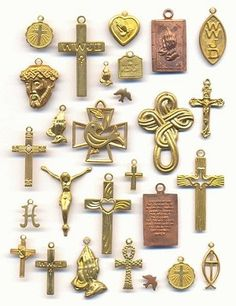 Mixed Crosses and Religious Charms at JansJewels.com!