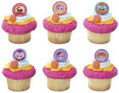 TOPPER FAVORS CAKE CUPCAKE RINGS LALALOOPSY DOLL PARTY BIRTHDAY SUPPLIES 12