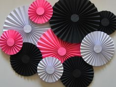 A personal favorite from my Etsy shop https://www.etsy.com/listing/465986893/pink-black-and-white-rosette-backdrop