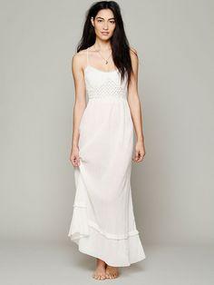 Free People Smocked Gauze Sleep Dress, $108.00