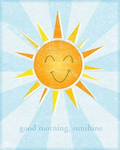 Kids Art Print - Good Morning Sunshine Print 8 in x 10 in Toddler Wall Art - Baby Nursery Art Child Prints - Nursery Art Print Fallout 3, Good Morning Sunshine, My Sunshine, Artist Canvas, Canvas Art, Framed Canvas, Canvas Size, Framed Prints, Buenos Dias Quotes