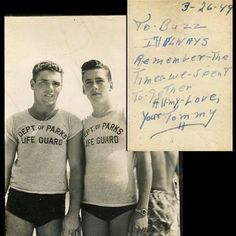 Vintage Viral Photo of Two Life Guards Who Might Be More Than Friends Prompts Speculation About 'Buzz' and 'Tommy' - Towleroad Gay News Lgbt Couples, Cute Gay Couples, Lgbt History, Vintage Couples, Men Kissing, Lifeguard, Man In Love, Vintage Photographs, Historical Photos