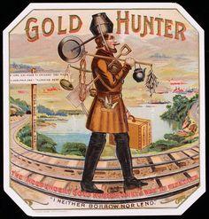 Gold Hunter cigar box label.