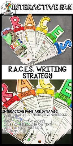 Informations About RACES Writing Strategy, Response Writing, Interactive Fan Pin You can easily use Races Writing Strategy, Race Writing, 5th Grade Writing, Middle School Writing, 4th Grade Reading, Writing Strategies, 6th Grade Ela, Teaching Writing, Writing Activities