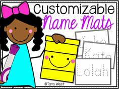 Freebie Customizable Name Mats