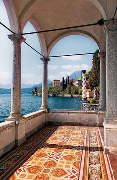 The veranda of an old villa has fabulous views of Lake Como and surrounding villages. From Wiki: Lake Como is a lake of glacial origin in Lombardy, Italy. Lake Como has been a popular retreat for…More Oh The Places You'll Go, Places To Travel, Travel Destinations, Places To Visit, Europe Places, Lac Como, Comer See, Lake Como Italy, Voyage Europe