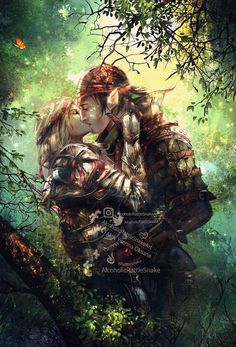 Iorveth and Saskia by Luciferys on DeviantArt The Witcher Game, The Witcher Geralt, Witcher Art, Amazing Drawings, Easy Drawings, Dark Fantasy, Fantasy Art, Fantasy Couples, Pagan Art
