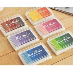 Tinta multicolor para sellos
