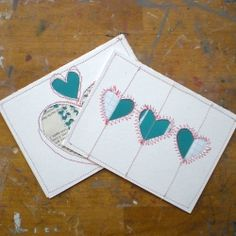 A DIY for some sweet sewn paper Valentine's Postcards. These were made for Special Delivery: Share Your Love