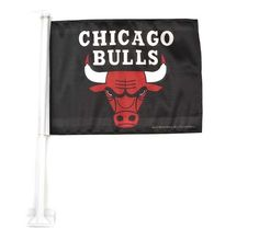 Chicago Bulls Black Car Flag
