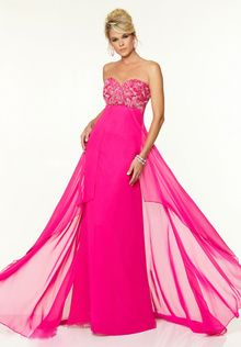 Winsome Sweetheart A-Line Strapless Sleeveless Sweep Train Backless Chiffon with Crystals Empire Chinese Evening Dresses