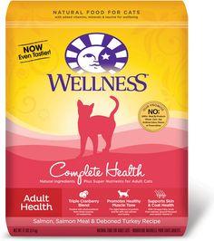 Wellness Complete Health Adult Health Salmon, Salmon Meal & Deboned Turkey Recipe Dry Cat Food, 12-lb bag