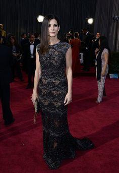 Best Oscars Dresses 2013: Sandra Bullock in Elie Saab
