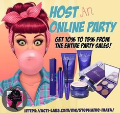 #host an #onlineparty with #actilabs ! #makeup #skincare etc. Click my link on my profile #thelipstickqueen