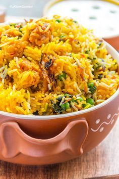 This is a vegetable Biryani. A very common dish in India and found in other parts of the world as well. Biryani is very common, but what makes it special to India would be the vegetable version to accommodate for those who are vegetarian. As that is a pop Rice Recipes, Indian Food Recipes, Asian Recipes, Vegetarian Recipes, Cooking Recipes, Healthy Recipes, Food Recipes Summer, Vegetarian Biryani, Easy Recipes
