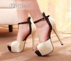 Nude Peep Toe Ankle Strap Stiletto Heel Sandals $30.99