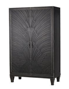 Artistic storage - Andrew Martin gunmetal-finish wood Josephine cabinet