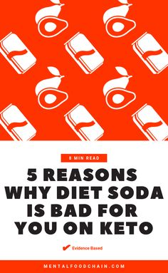 This guide to natural and artificial sweeteners explains the top five arguments why diet soda is bad for you on keto and proposes safe alternatives. Keto Drink, Diet Drinks, Vitamins For Metabolism, Diet Soda Cake, Insulin Resistance Diet, Healthy Soda, Stevia Recipes