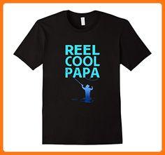 Mens Reel Cool Papa-Papa Fishing Funny Gift Tshirt XL Black (*Partner Link)