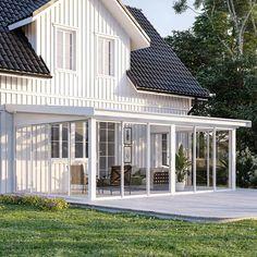 Komplett hagestue Door Protection, K Om, Timber Roof, Porch Area, Getaway Cabins, Roof Structure, Terrace Design, Pergola Designs, Simple Colors