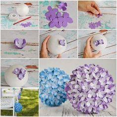 Przepiękna kule pełne sztucznych kwiatków - instrukcja
