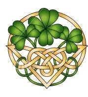 shamrock w/ celtic knot ~ would be a beautiful stained glass pattern...