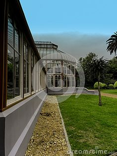 A close-up side view of the Pearson Conservatory in St Georges Park, Port Elizabeth, South Africa.