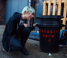 Awsten with a trash can pt.3<<<<< You mean another cute pic of. Awsten and I.