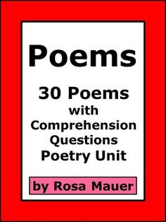 Poetry is the focus of this packet. You will receive thirty originally written poems with comprehension questions after each. There is something for everyone in these fun printables. An answer key is provided for the teacher. Lines for student response are providedWant to buy this product as part of a growing bundle?