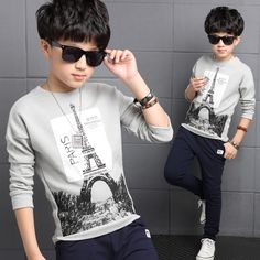 Special offer 4 5 6 7 8 9 10 11 12 13 14 16 Years 2017 Boys T-Shirts Children Clothing Spring Wear Long Sleeve Baby T-Shirts Tops Tees Costume just only $13.99 with free shipping worldwide  #boysclothing Plese click on picture to see our special price for you