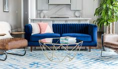 Timeless elegance meets modern design in the Laurel sofa. The rich blue velvet upholstery is paired perfectly with the elegant walnut base and mid-mod tapered legs. Furniture, Sofa Upholstery, Living Room Sofa, Blue Velvet Sofa, Home Decor, Mid Century Modern Sofa, Sofa Set, Blue Sofa Living, Living Room Upholstery