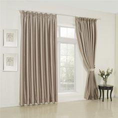IYUEGO Classic Solid Beige Double Pleated Lining Blackout Curtains Drapes With Multi Size Custom 42' W x 63' L (One Panel) * Find out more about the great product at the image link. (This is an affiliate link) #EasyHomeDecor