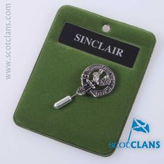 Sinclair Clan Crest Tie Pin. Free Worldwide Shipping Available